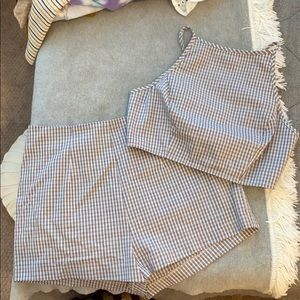 Urban Outfitters plaid set